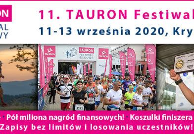 11. TAURON Festiwal Biegowy od 11 do 13 września 2020 r. w Krynicy-Zdroju. Ruszyły zapisy!