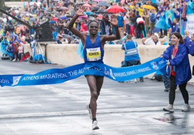 Maraton w Atenach z 20 000 biegaczami