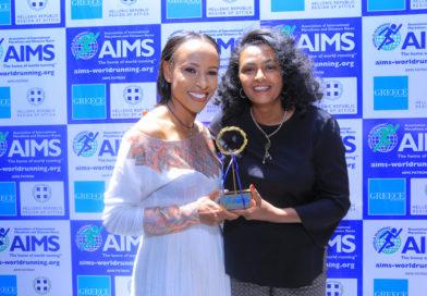Dwukrotna mistrzyni olimpijska, Etiopka Meseret Defar otrzymała nagrodę AIMS Inspirational Woman Award