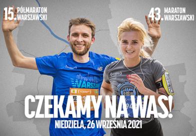 15. Półmaraton Warszawski i 43. Maraton Warszawski rozbiegają stolicę 26 września! Na biegaczy czeka dodatkowa pula miejsc.